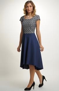 Krátké plesové šaty s elegantní kolovou sukní 719977d197