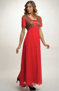 Dlouhé elegantní večerní šaty pro plnoštíhlé silnější dámy, vel. 44, 46, 48,50