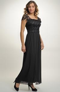 Elegantní plesové večerní šaty z krajky, vel. 44