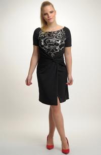 Malé společenské černé šaty s flitry