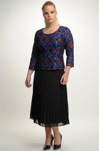Dámský elegantní komplet top a sukně.