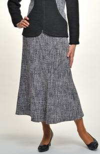 Dámské sukně ke kolenům z teplé tkaniny