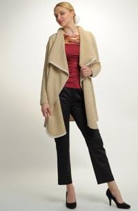 Hřejivý cardigan z bouclé pleteniny - paleto v siluetě A