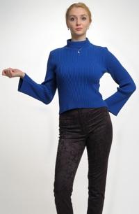 Dámský pletený svetřík k úzkým kalhotám - sleva