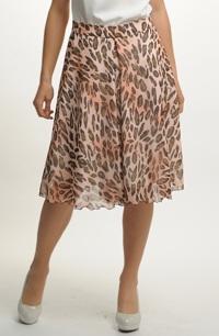 Letní sukně z jemného šifonu
