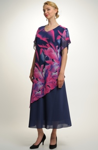 Letní společenské šaty z jemného šifónu