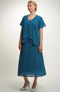 Společenský model šatů s řasením