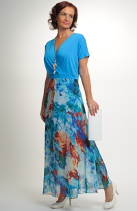 fdee2710a21e Elegantní dlouhé společenské šaty pro plnoštíhlé