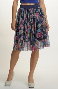 Tylová sukně s řasením