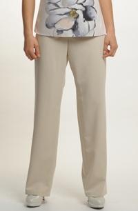 Kalhoty v pastelové barvě bílé kávy