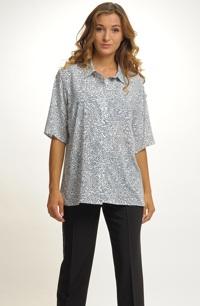 Dámská košile v bílo modré barvě