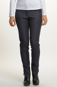 Riflové kalhoty z jemné rifloviny v duchu jezdeckých kalhot