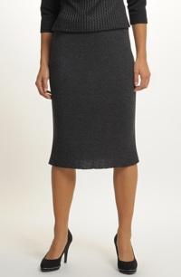 273f4ec7c65 Elegantní úzká sukně z žebrové pleteniny