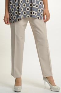 Dámské kalhoty v béžové bavě s puky