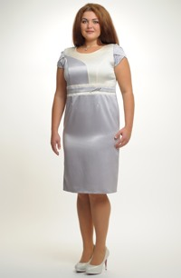 Elegantní pouzdrové, levné šaty do společenosti i na svatbu pro plnoštíhlé, vel. 46,