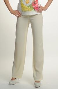 Kalhoty v jemné pastelové vanilkové barvě