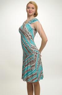Letní šaty s výrazným vzorem z vikózy