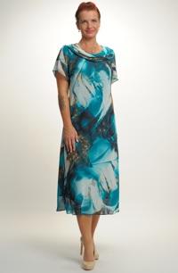 Lehké společenské šaty z jemného šifónu