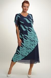Dlouhé šaty do společnosti pro plnoštíhlé dámy