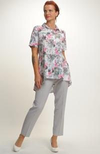 Kalhotový komplet v módní šedé