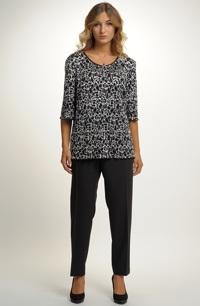 Černý luxusní kalhotový komplet