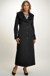 Elegantní dámský zimní maxi kabát
