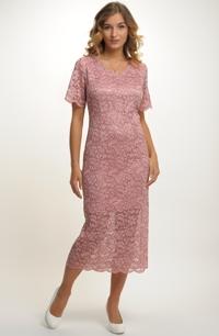 Luxusní krajkové koktejlové společenské šaty 6af24e0b015