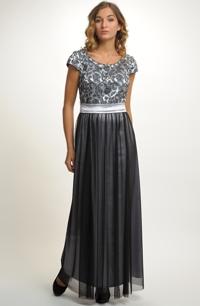 Dlouhé společenské šaty na ples 268e842425