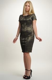 Elegantní plesové šaty v černo zlaté kombinaci