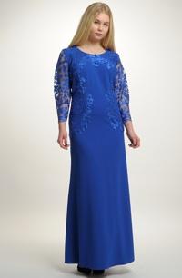 Elegantní elastické plesové šaty