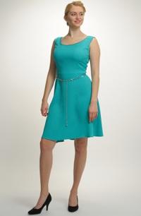 Exkluzivní společenské šaty v tyrkysovozelené barvě. bb53de1707