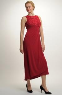 Dámské plesové šaty z elastické pleteniny