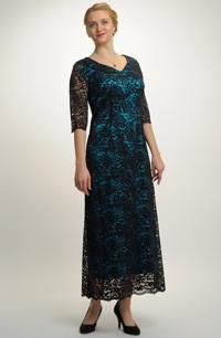 Dámské plesové dlouhé šaty pouzdrového střihu, vel. 46, 48, 50