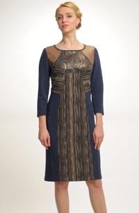 Elegantní koktejlové šaty v náročném puzzle střihu