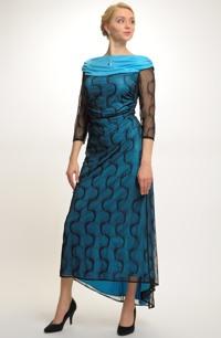 Elastické večerní šaty