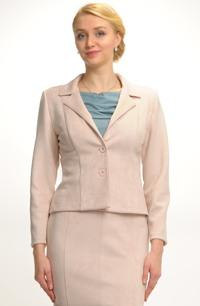 Dámské sako ze zajímavého moderního materiálu s elastanem
