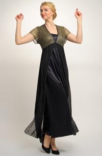 Plesové šaty vhodné i pro plnoštíhlé, velké a nadměrné velikosti, vel. 46, 48, 50, 52