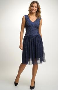 Společenský dámský komplet se sukní a, topem
