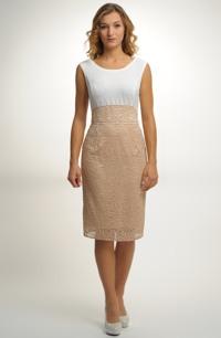 Koktejlové společenské šaty z luxusní krajky