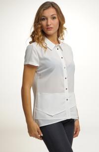 Společenská dámská košile z elastického materiálu.