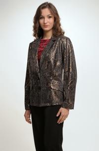 Slušivé dámské sako s plastickým vzorem.