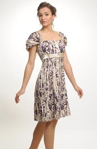 Mladistvé empírové krátké šaty