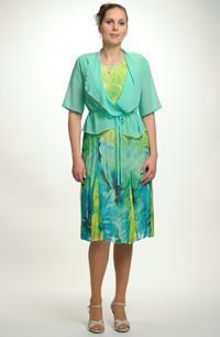 Společenské šifónové šaty pro plnoštíhlé postavy, vel. 42, 44,46,48, 50