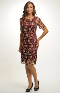 Elegantní dámské společenské šaty pro plnoštíhlé
