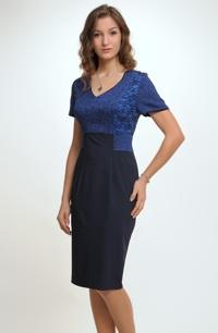 Krátké společenské šaty se sedlem vel. 42