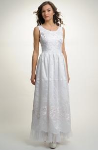 Elegantní svatební a šaty z bohatou výšivkou