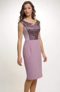 Velmi slušivé jednoduché elegantní dámské šaty do společnosti