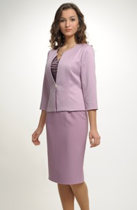 Kabátek s otevřenou fazónou vhodný na šaty