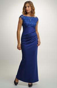 Plesové dlouhé dámské šaty s luxusní krajkou vhodné i na svatbu