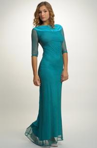 Večerní společenské šaty na vysoké, štíhlé postavy. Vel. 34, 36, 38, 40 / XS, S, M, L